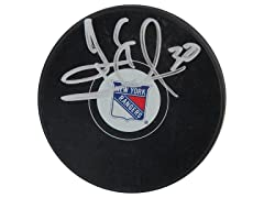 Henrik Lundqvist Rangers Signed Puck
