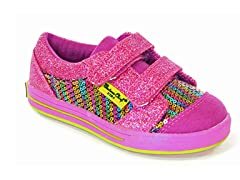 Double Strap Rainbow Glitz Rain Low-Top