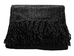 Susan Chenille Throw - Black