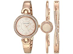 Anne Klein Womens Crystal Accented Watch