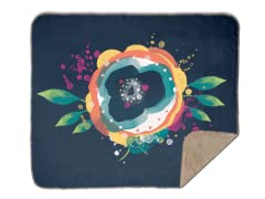 Floralia Sherpa Blanket