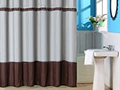Claridge Embroidered Shower Curtain