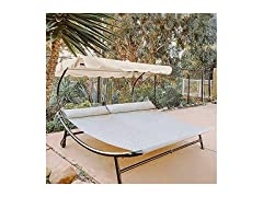 Double Chaise Outdoor Patio Lounge Bed