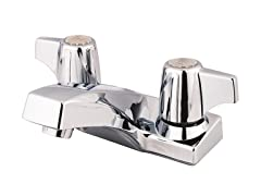 Handle-Less 4-Inch Centerset, Chrome