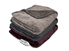 Serta® Heated Silky Plush Throw
