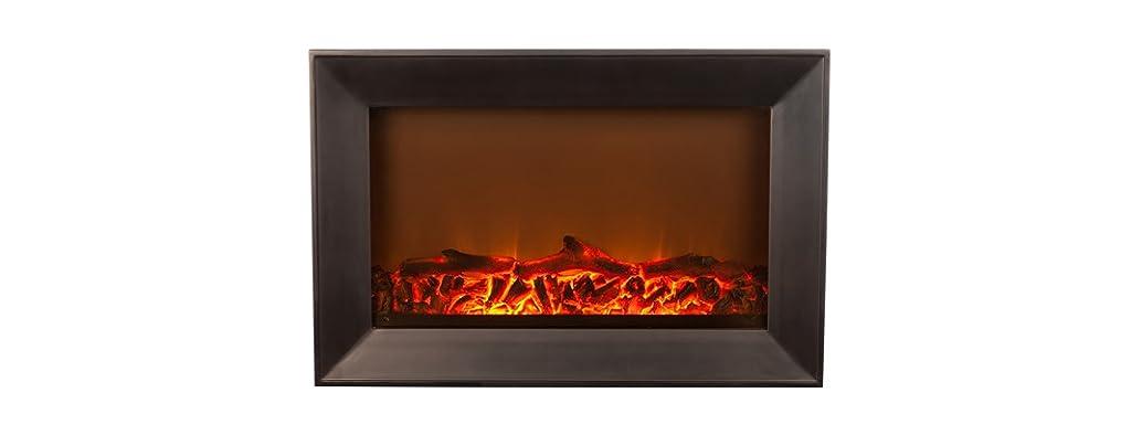 Black Wood Fireplace