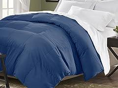 Down Blend Comforter-Navy-2 Sizes