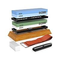 Deals on Razorri Blade Sharpening Stone Kit, Double-Sided