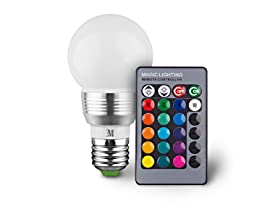 Massimo RGB Round Bulb with Remote