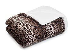 Fleece Blanket w/ Sherpa Backing- Mink
