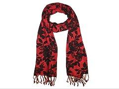 2-Pack Stripes & Floral Print Scarves