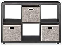 Whitmor Deluxe 6 Cube Organizer, Espresso