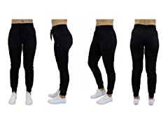 Women's French Terry Joggers Zip Pockets