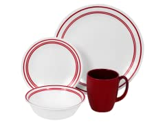 Livingware Classic Café Red 16pc Set