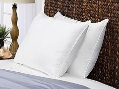 2 Pack Brush Microfiber Down Alternative Pillows