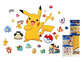RoomMates Pokemon 36-Pc Wall Decals Bundle