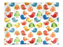 """Rainbow Birds"" Placemat"