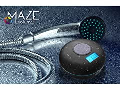 Maze Waterproof BT Spkr w/LCD Display