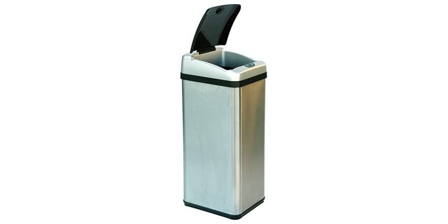 13 Gallon Rectangular Sensor Trash Can Home & Kitchen