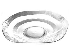"""Wave Bowl 18"""" Silver Rim"""