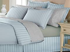 Duvet W/Bedskirt-Silver-4 Sizes