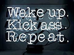 Oliver Gal 'Wake Up' Neon Sign