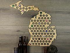 Beer Cap Map: Michigan