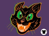 Black on Purple Cat