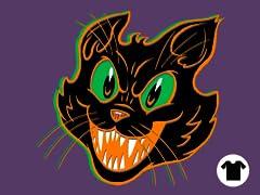 Black on Purple Cat