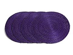"Core Bamboo 15"" Placemat-Violet Set of 4"