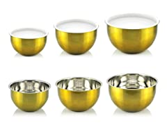 Kevin Dundon 6 Piece Bowl Set Gold