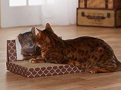 Cheshire Cat Cardboard Cat Scratcher - Brown