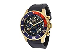 Invicta Blue 18k Gold Polyurethane