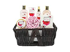 Cherry Blossom Spa Basket, 8 piece