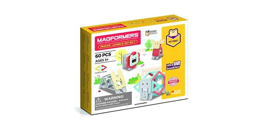 Magformers My First Animal Educational Magnetic STEM Toy Set (Ages 3+) | WOOT
