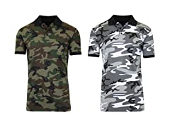 Men's 2 Pack Pique Camo Polo
