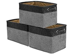 Twill Storage Baskt Set 3pk