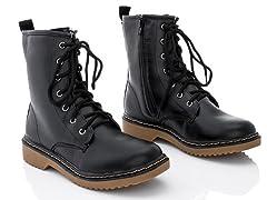 Rasolli Combat Boots, Black