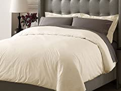 Hotel Duvet Cover Set - Ivory - 3 Sizes