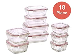 18pc Vibz Glass Food Storage Containers