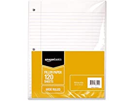 AmazonBasics Wide Ruled Loose Leaf Filler Paper