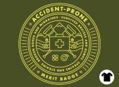 Accident-prone Merit Badge