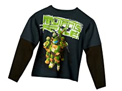 TMNT Long Sleeve Tee - Charcoal (4-7)