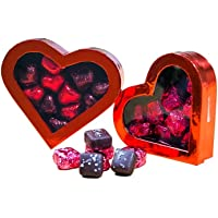 2-Pack G. Debbas Valentine Hearts : Chocolate Sea Salt Caramels & Chocolate Truffle Hearts