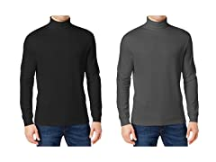 GBH Mens Long Sleeve Turtle Neck 2-Pack
