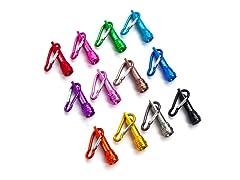Skil Mini Carabiner Assorted Color LED Flashlight – 12 pack