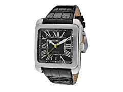 Men's Automatic Black Leather