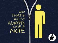 Always Leave a Note LW Zip Hoodie