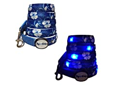 Dog-e-Glow Blue Hawaii LED Lighted leash 6'