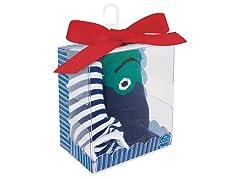 Baby Deer 2-Pk Sock - Stripe / Frog